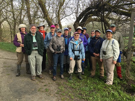 More than a dozen Mad Birders plus representatives of the Duxbury Land Trust took in the avian wonders of the State Farm Property on 5/14/16
